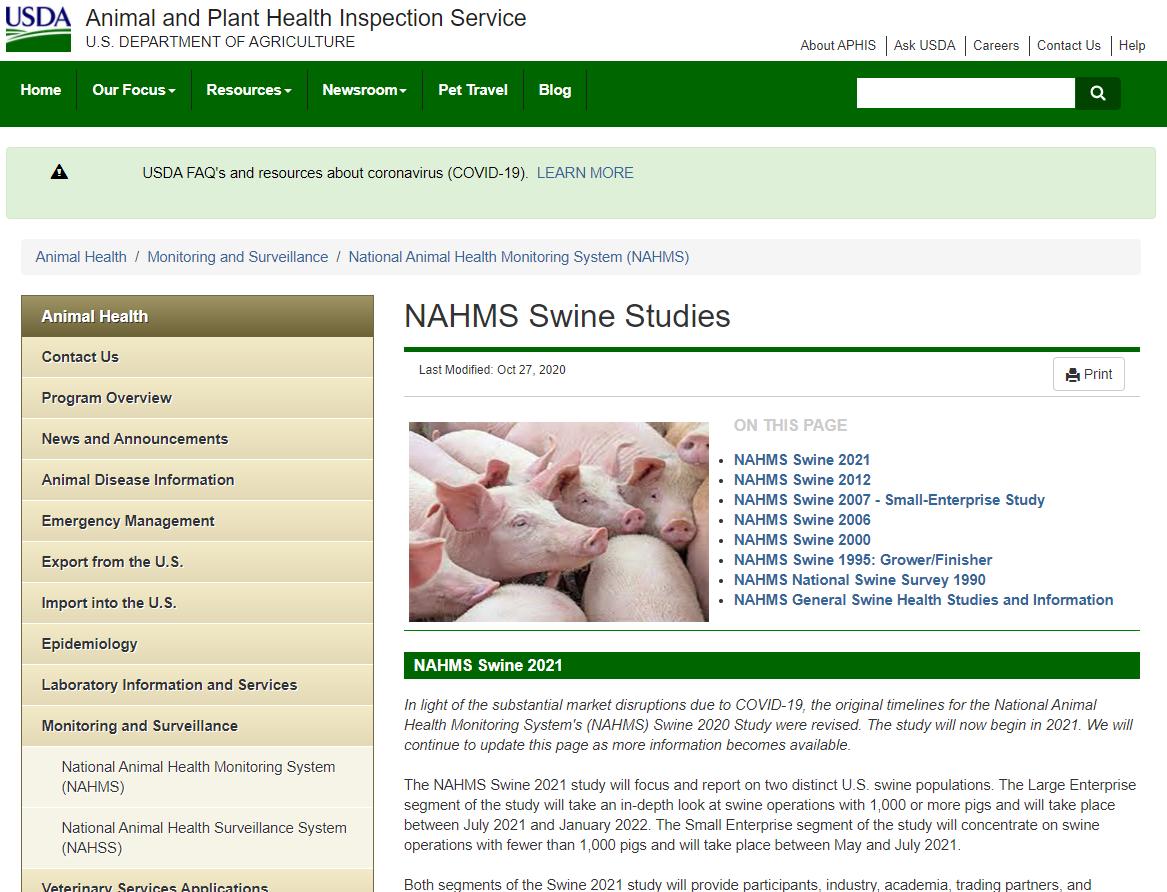 NAHMS Swine 2021 Survey