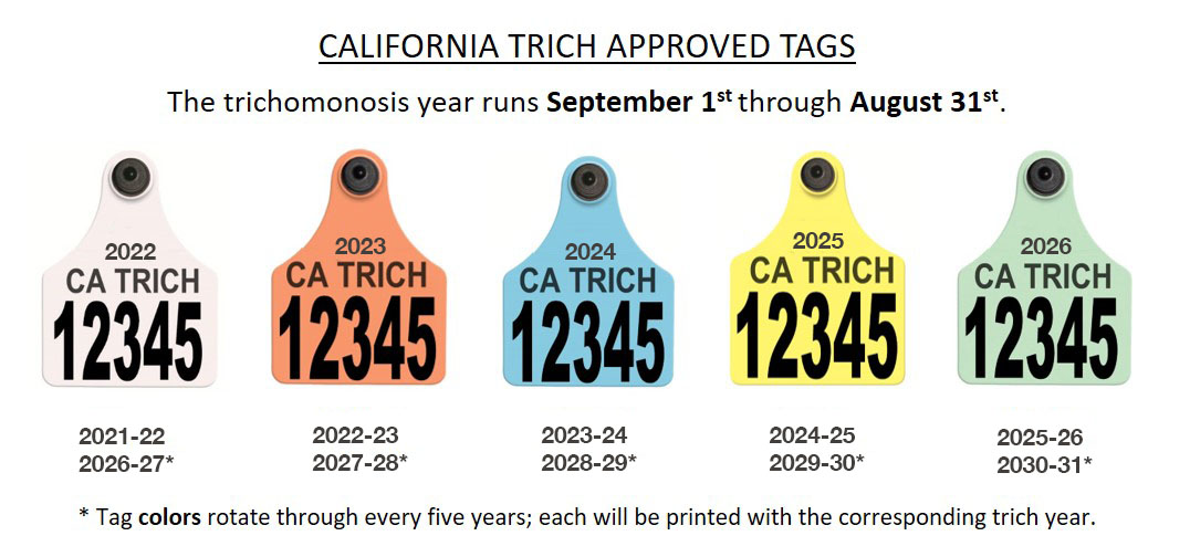 California Trich Approved Tags