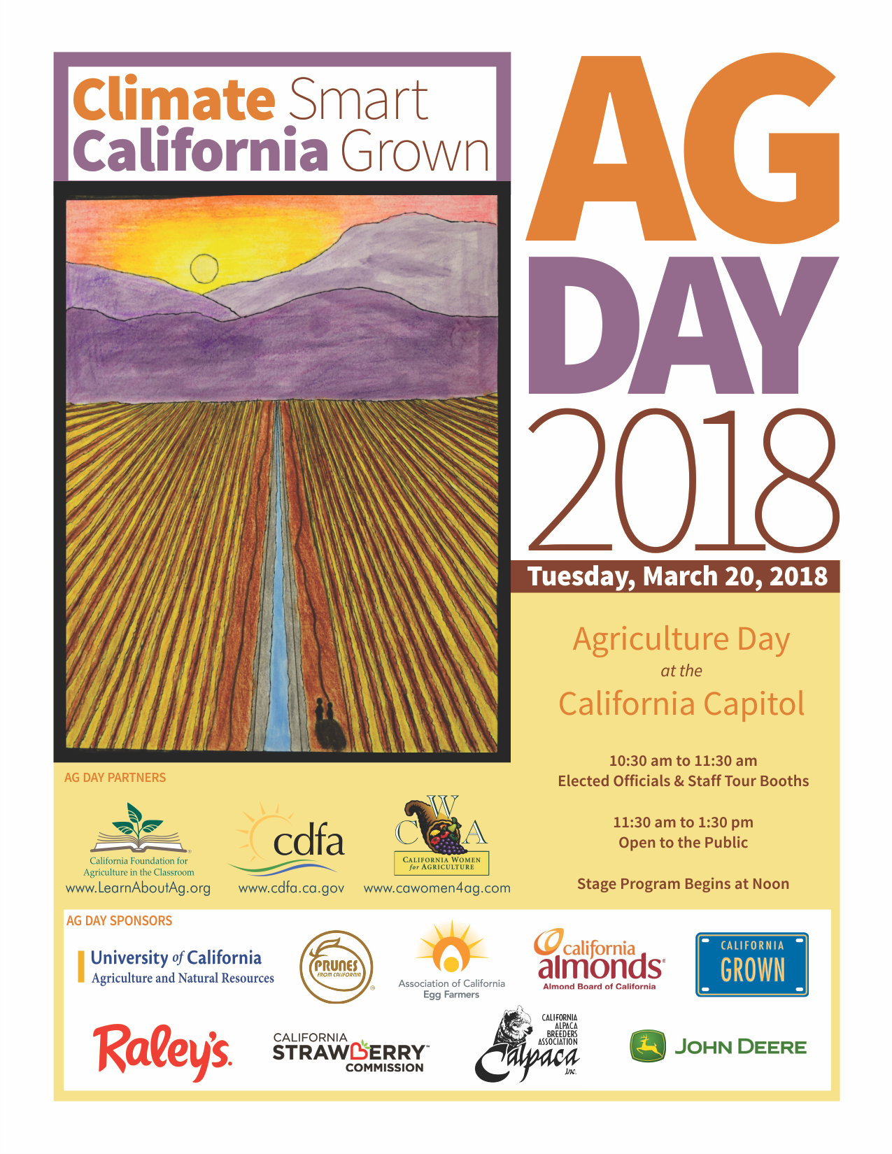 Cdfa california agriculture day march 20 2018 climate smart california grown ag day 2018 flyer buycottarizona Choice Image
