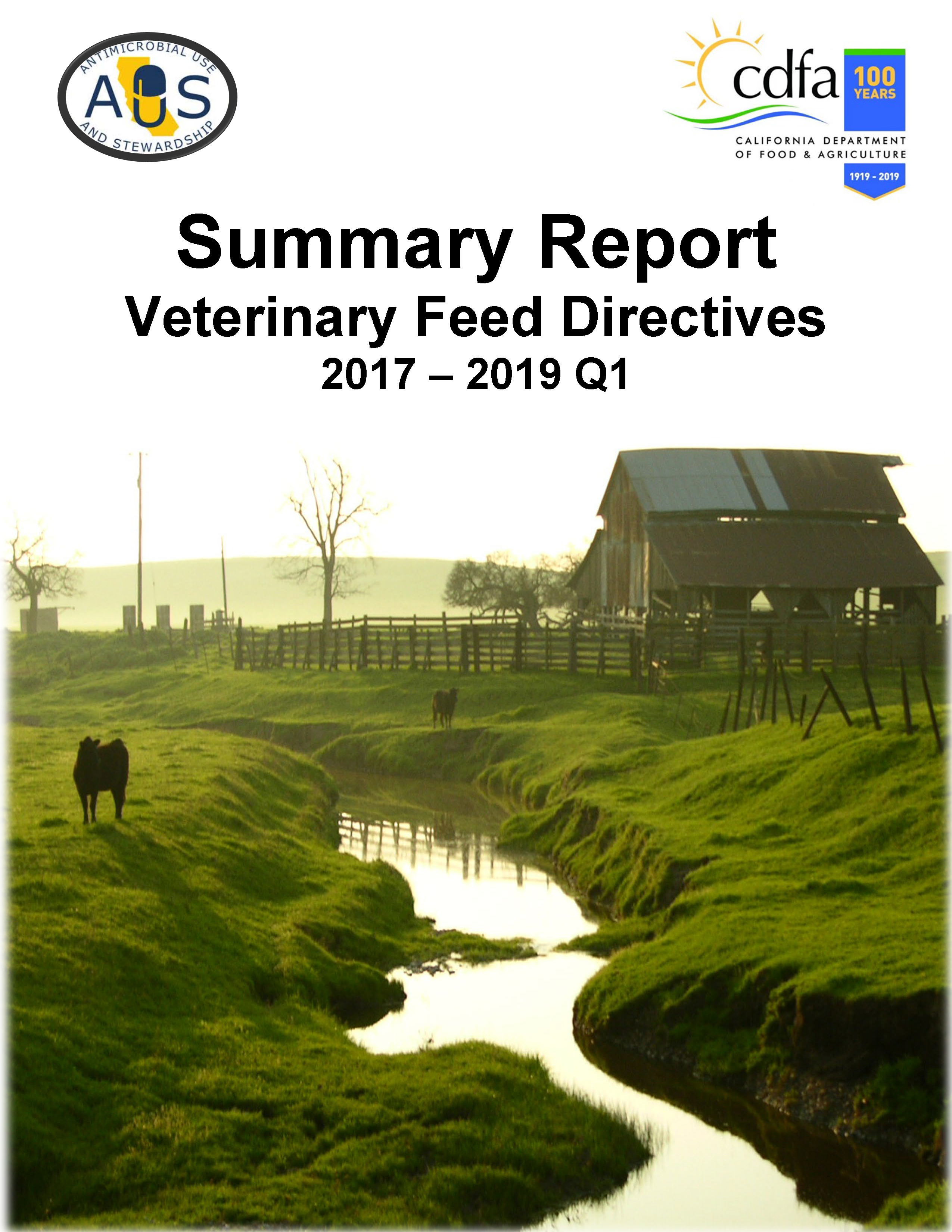 Annual Summary Report Veterinary Feed Directives 2019