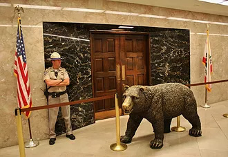 Bear statue in the state capitol building