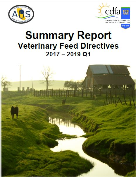 Summary Report Veterinary Feed Directive 2017-2019 Q1