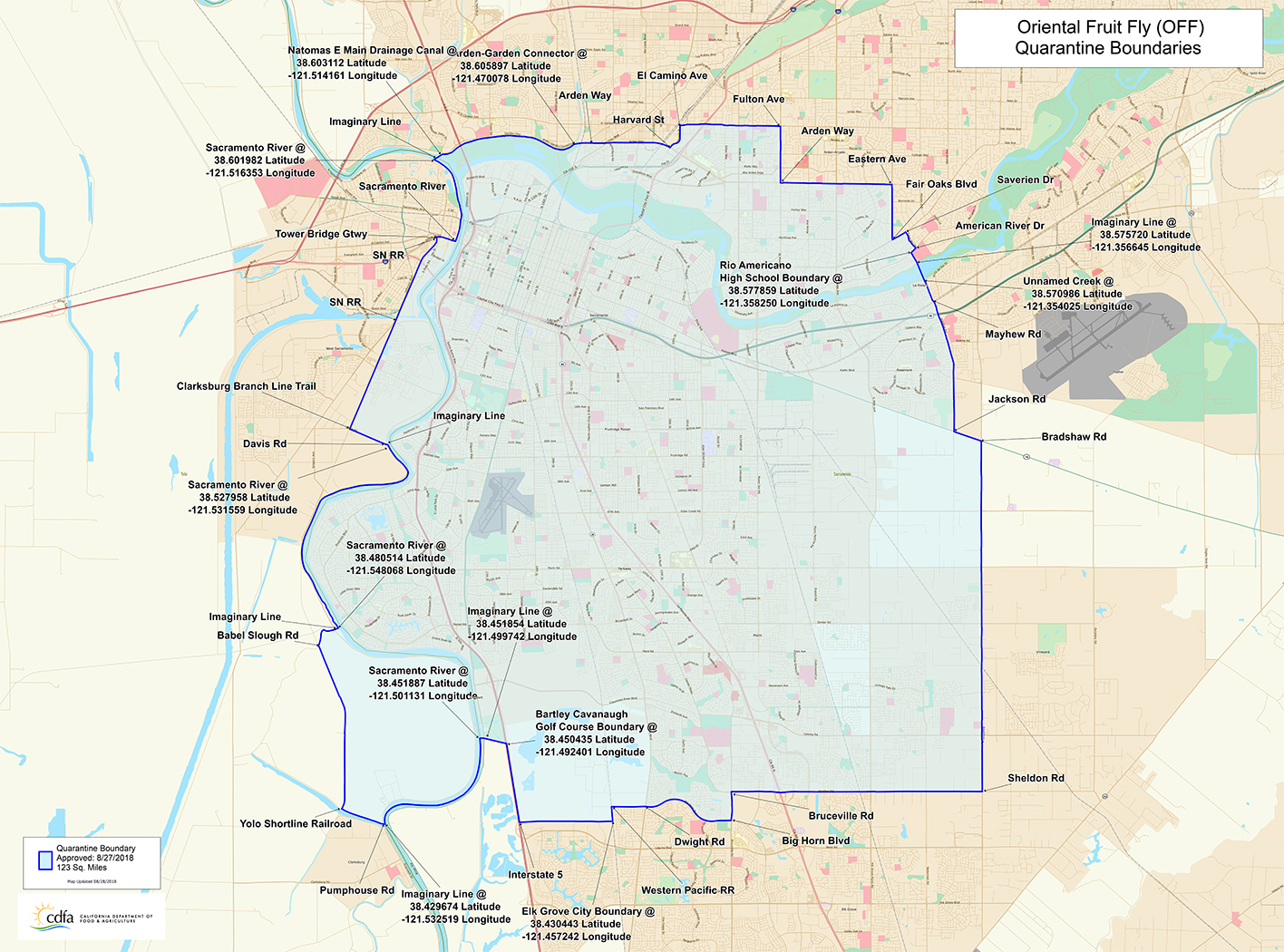 Sacramento Area Map