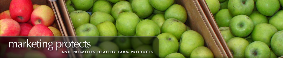 Marketing protects and promotes healthy farm products