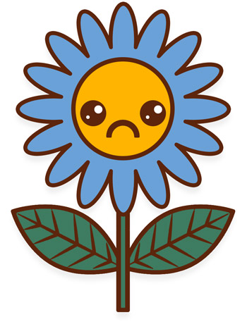 Drawing of a very sad flower
